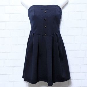 Urban Outfitters Strapless Navy Sailor Dress Small